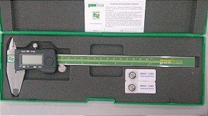 """Paquímetro Digital 200mm/8"""" Leitura de fração de Polegada 1/128"""" Pantec 11138-200"""