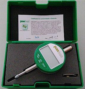 """Relógio Comparador Digital 0-10mm 0,01mm/.0005"""" Pantec 12100-10"""
