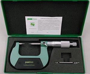 Micrometro Externo Analógico Pontas Conicas 0-25mm/0,01mm Pantec 13230-25A