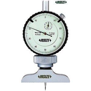Medidor de Profundidade com Relógio 0-10mm / 0,01mm Base 101,5x17mm Insize 2341-102