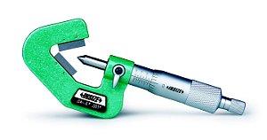 """Micrometro C/ Batente em """"V"""" P/ Medição de peças 3 Faces 0,01mm 5-20mm Insize 3290-203A"""