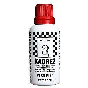 Corante Líquido Xadrez 50ml - VERMELHO