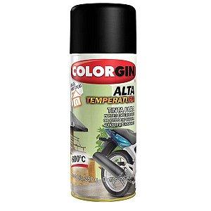 Tinta Spray Colorgin Alta Temperatura - 5722 Preto Fosco