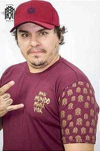 Camiseta MMMV Gold - Vinho