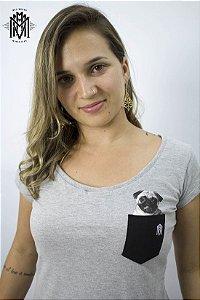 Baby Look Torresmo Dog Cinza Mescla