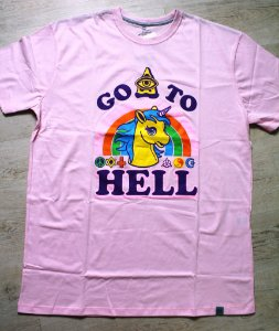 CAMISETA GO TO HELL - ROSA