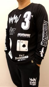 Camiseta MMMV Manga Longa - Preta