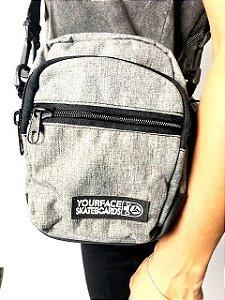 SHOULDER BAG YOURFACE UNISSEX - CINZA