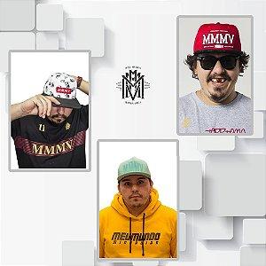 KIT 1- BONÉ MMMV VERDE COLEÇÃO 2018 + TORRESMO MAN + MMMV VERMELHO
