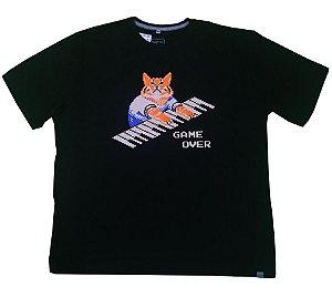 Camiseta Santa Hell Gato Teclado
