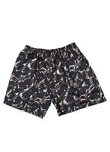 Shorts Camuflado Cinza