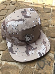 BONÉ FIVE PANEL MOTHAFOTOM RIPSTOP - CAMU/BEGE