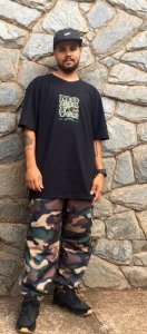 Camiseta L Army Foton - Preta