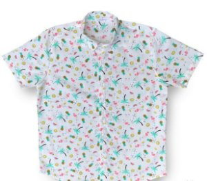 Camisa Kamizahia Flamingo Citric