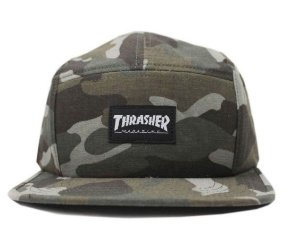 BONÉ THRASHER MAGAZINE FIVE PANEL MAG LOGO CAMO