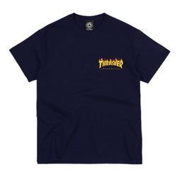 Camiseta Thrasher Logo Bottom Preta