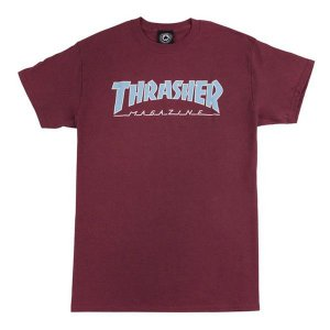 Camiseta Thrasher Outlined Bordo