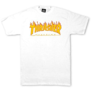 Camiseta Thrasher Flame Logo Branca