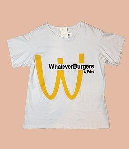 Camiseta GRINGA.COM WHATEVER BURGUERS Fem - TAM G