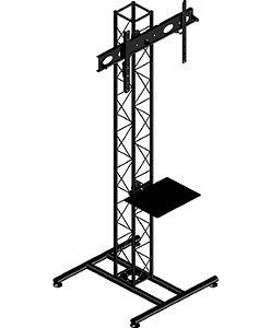 Pedestal para tv  torre treliçada com bandeja -ksp1521