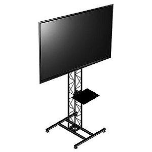 suporte para tv de chão com torre treliçada  preto - ksp1521