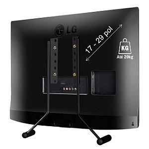 BASE PARA TV DE MESA 17 A 29 POL VESA 75 e 100 Pé para Tv e monitor Lg samsung