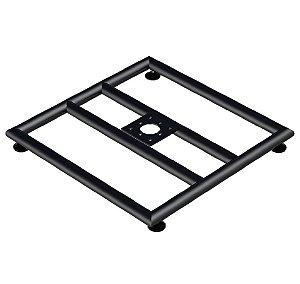 Base 60x60 para boxtruss q15 com pé nivelador preto