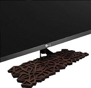 Base Para Tv Pé tv universal madeira 32a55 craquele