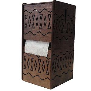 Porta Papel Higiênico De Madeira Mdf Parede Ou Bancada Afro