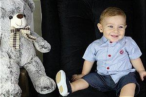 conjunto infantil katitus Camisa e bermuda