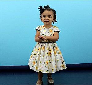 vestido infantil festa katitus estampa abelha