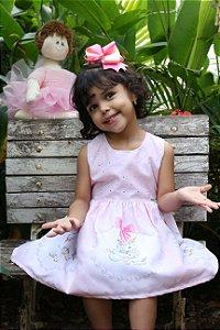 vestido infantil katitus estampa de unicórnio