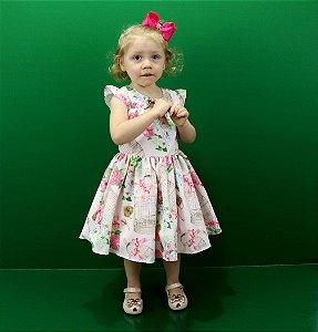 vestido infantil katitus Flores/Gaiola