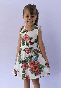 vestido infantil básico de malha katitus borboleta