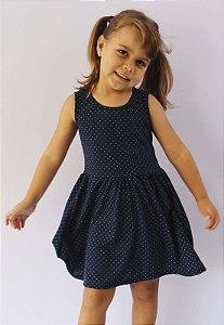 vestido infantil básico de malha katitus bolinha