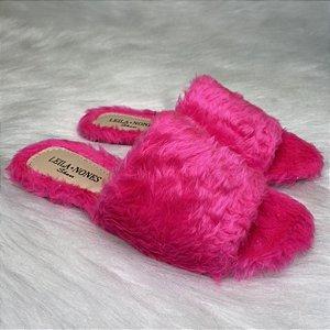 Chinelo Peludinho Pink