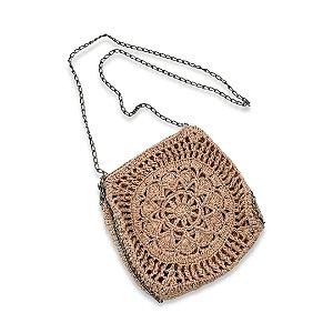 Bolsa de Crochê Flor Pequena