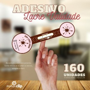 ADESIVO LACRE VALIDADE - tamanho 4X12CM