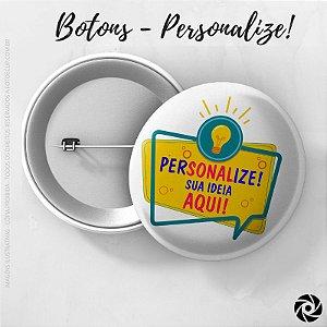 Boton Simples 4,5cm - PERSONALIZE!