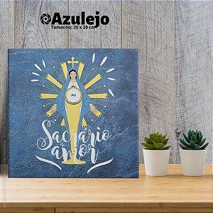 Sacrário do amor - AZULEJO TAMANHO 20 X 20 CENTÍMETROS, COM SUPORTE.