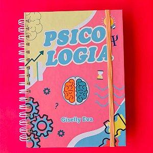 Caderno Psicologia (PERSONALIZADO COM SEU NOME) Tamanho A5 (21cm x 15 cm)