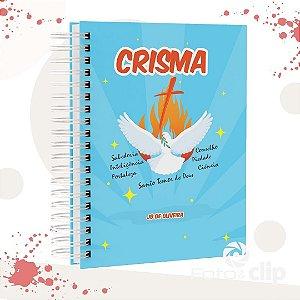 Caderno de Crisma (PERSONALIZADO COM SEU NOME) TAMANHO A5 (21CM X 15 CM)