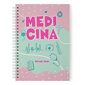 CADERNO MEDICINA (PERSONALIZADO COM SEU NOME) TAMANHO A5 (21CM X 15 CM)