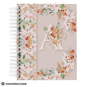 Caderno de Receitas com capa alfabeto Dia das Mães