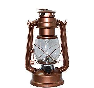 Lampião a Pilha Com 15 Leds 24cm Bronze Enerblu