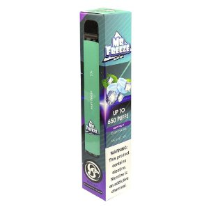 Pod Descartável Mr Freeze 650 Puffs - Mint Frost