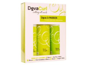 Kit Deva Curl Shampoo + Condicionador + Gel 120ml