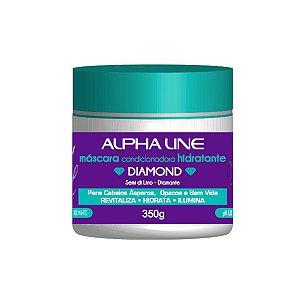 Máscara Condicionadora Hidratante Diamond 350g - Alpha Line