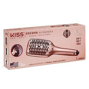 Escova Alisadora Kiss New York Gold Edition - BIVOLT Automático