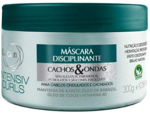 Máscara Lacan Vegana Disciplinante Cachos & Ondas Intensiv Curls 300g